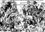 Битва под Легницей в 1241 г. Миниатюра из «Жития св. Ядвиги Силезской», XIV в