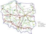 Карта автодорог Польши