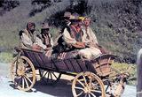 Группа польских крестьян на повозке