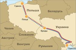 Польша перевела нефтепровод Броды-Плоцк в резерв
